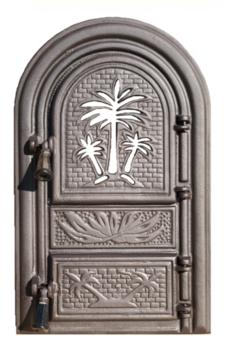 Дверь для печи Пальма со стеклом