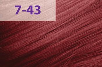Краска для волос,ACME jNowa Siena CS, 90 мл., 7/43 - красно-золотистый тёмный блонд