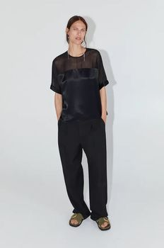 Блуза ZARA Чёрный 4437/249/800