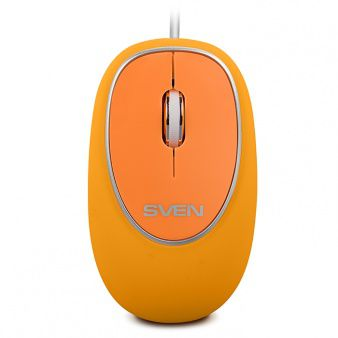 Mouse SVEN RX-555, Optical Mouse, Antistress Silent 1800 dpi, USB, Orange