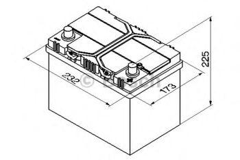 купить Аккумулятор BOSCH 12V 540AH  S4 025 в Кишинёве