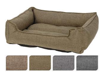 """Лежак для животных """"Кровать"""" 48X42X11cm, полиэстер, 4цвета"""