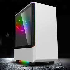 Корпус ATX GAMEMAX Panda T802, вентилятор 1x120mm ARGB, светодиодные ленты 3xARGB, PWM / Rainbow HUB, USB3.0, TG, белый