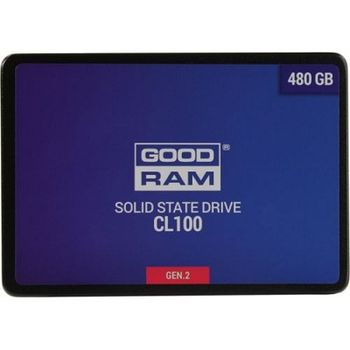 "2.5"" SSD 480GB  GOODRAM CL100 Gen.2, SATAIII, Sequential Reads: 550 MB/s, Sequential Writes: 450 MB/s, Thickness- 7mm, Controller Marvell 88NV1120, NAND TLC"