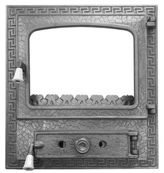 Ușă cu sticlă pentru șemineu #2