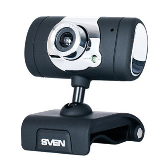 Camera SVEN IC-525, Microphone, 0.3Mpixel - 8Mpixel, 5G glass lens, hinge for easy camera rotation at any angle, UVC, USB2.0, Black
