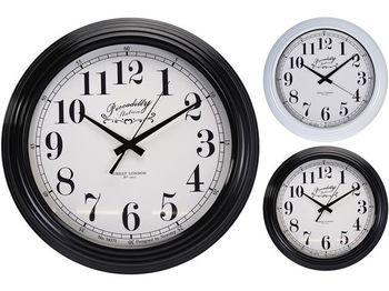 Ceas de perete rotund D41cm, H9cm, metal, 2 culori