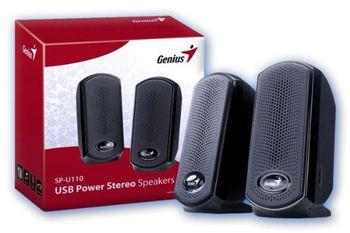 Speakers Genius SP-U110, 1W RMS, Black