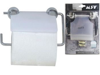 Держатель для туалетной бумаги с крышкой 14cm, пластик/хром