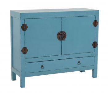 cumpără Dulap cu 1 sertar si 2 usi 1015x350x860 mm, albastru în Chișinău
