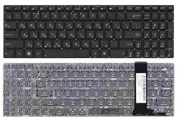 "Keyboard Asus N550 N56 N76 N750 Q550 R552 U500 w/o frame ""ENTER""-small ENG/RU Black"
