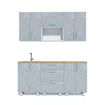 Кухня 1800 МДФ Mat Stone Grey Wood