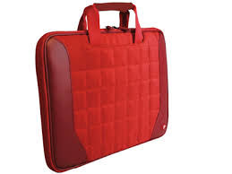 "PORT Skin Line/BERLIN RED 11.6""/9-11.6"" Skin-Skin with handles, memory foam inside,  2 flat pockets front & back"