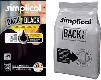 SIMPLICOL Back-to-BLACK - Vopsea pentru reimprospatarea/revigorarea culorii in masina de spalat (negru), 400 g