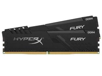 16 ГБ DDR4-3000 МГц Kingston HyperX FURY (комплект из 2x8 ГБ) (HX430C15FB3K2 / 16), CL15-17-17, 1,35 В, черный