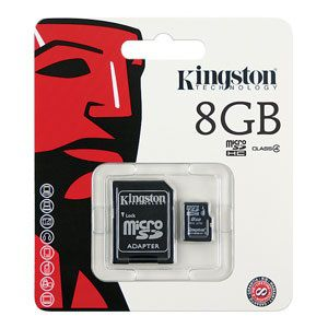 Kingston 8GB microSDHC Class4 with adapter