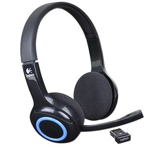Logitech Wireless Headset H600, Noise-canceling Microphone, Fold-and-go design, on-ear controls, Six-hour rechargeable battery, 2.4 GHz wireless, Nano receiver, USB2.0