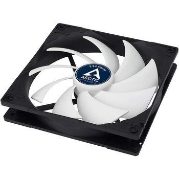 Case/CPU FAN Arctic F14 Silent, Black, 140x140x27 mm, 3-pin, 800rpm, Noise 0.08 Sone (@ 800 RPM), 46 CFM (78 m3/h) (ACFAN00217A)