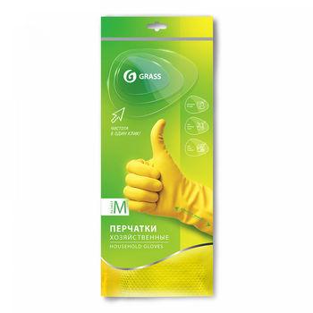 Перчатки хозяйственные зеленые, размер M