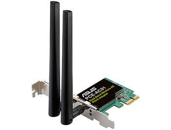 ASUS PCE-AC51 Wireless-AC750 Dual-band PCI-E Adapter, 2.4Ghz/5Ghz, IEEE 802.11 a/b/g/n/ac, AC performance: 300+433 Mbps (placa de retea wireless WiFi/сетевая карта WiFi беспроводная)