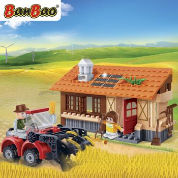 BanBao 8583 Harvest Tractor & Shed - 157 blocks