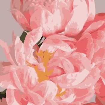 """PN1970 Картина по номерам Artissimo """"Нежные пионы"""", 3 *, 13 цветов, 40x50 см"""