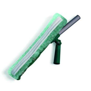 Держатель для мытья окон с шарниром и абразивной шубкой 35 см