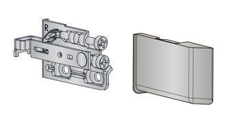 Agățător + capac SCARPI-4 L+R INDAUX