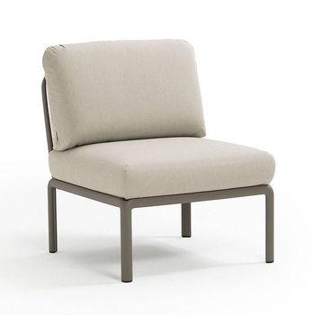 Кресло модуль центральный с подушками c водоотталкивающей тканью Nardi KOMODO ELEMENTO CENTRALE TORTORA-TECH panama 40373.10.131