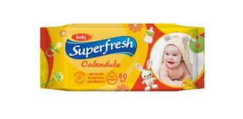 Влажные салфетки для детей SuperFresh, 60 шт.