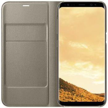 купить Чехол для моб.устройства Samsung EF-NG955, Galaxy S8+, LED View Cover, Gold в Кишинёве