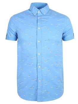 Рубашка TOP SECRET Голубой с принтом