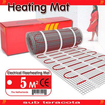 Электрический теплый пол 0,5 x 10,0 нагревательный мат (кабель) на сетке
