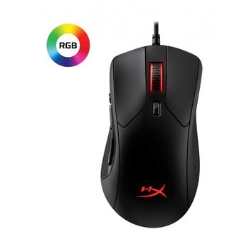 HYPERX Pulsefire Raid Gaming Mouse, Ergonomic 11-button mouse, 400–16000 DPI, 4 DPI presets, Premium Pixart 3389 Sensor, Customizable RGB lighting, Split-button design for extra responsiveness, USB, 95g