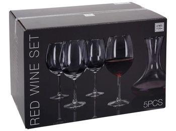 Набор декантер и бокалы для красного вина 4шт Atmosfera