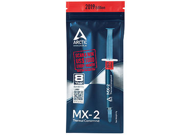Arctic MX-2 Thermal Compound 2019 Edition 8g, Thermal Conductivity 5.6 W/(mK), Viscosity 850 poise, Density 3.96 g/cm3