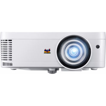 VIEWSONIC PS501W DLP 3D, WXGA, Short throw, 1280x800, SuperColor, 22000:1, 3500Lm, 15000hrs (Eco), HDMI, 2xVGA, SuperColor, 2W Mono Speaker, White, 2.6kg
