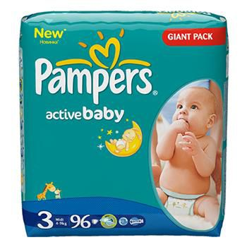 PAMPERS GIANT PACK 3 (4-9 kг) (96 шт.)