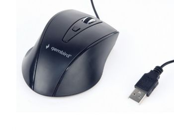 купить Mouse Gembird MUS-4B-02, Optical, 800-1200 dpi, 4 buttons, Ambidextrous, Black, USB в Кишинёве