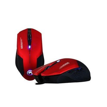 "MARVO ""M205"", Gaming Mouse, 800/1200/1600/2400dpi adjustable, Optical sensor, 6 buttons, 7 colors lighting, USB, Red"