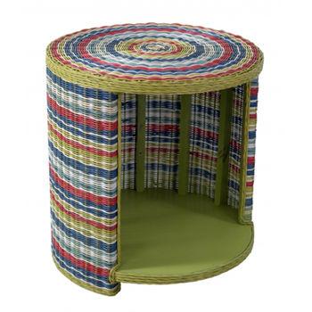 cumpără Masă rotundă cu nişă, 600x600x635 mm, rattan colorat în Chișinău