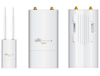 Ubiquiti UniFi UAP-Outdoor-5, Outdoor Access Point MIMO 5GHz, 802.11 b/g/n, 2 x External Antennas 5 dBi Omni, 300Mbps, Managed/Unmanaged, PoE, VLAN support, Range 183m, UAP-Outdoor-5 (punct de access WiFi/беспроводная точка доступа)