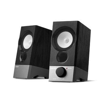 """Edifier R19U Black, 2.0/ 4W (2x2W) RMS, USB powered & audio, wooden, (2.75"""")"""