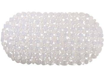 Covoras pentru cada de baie 39X99cm oval MSV Galets transparent, PVC