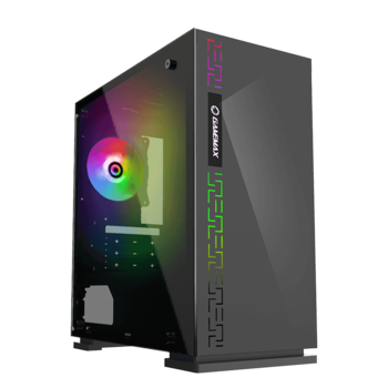 купить Case mATX GAMEMAX Dark Ranger, w/o PSU, 1x120mm Rainbow fan, USB3.1, Tempered Glass, Black в Кишинёве