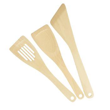 Набор деревянных кухонных лопаток