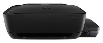 HP DeskJet GT 5810 AiO Print/Copy/Scan + СНПЧ, up to 20ppm/16ppm black/color, up to 4800x1200 dpi, Up to 1000 pages/month, 7 segment LCD, Hi-Speed USB 2.0, Black (HP GT51 Black 90ml, GT52 C/M/Y 70ml), One-year or 15,000 pages warranty
