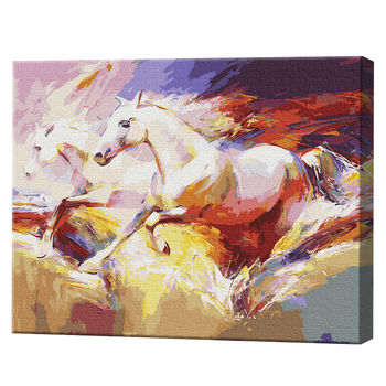 Бегущие лошади, 40х50см, картина по номерам Артукул: GX9860