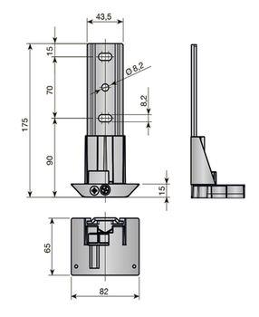 Suport ATLAS 32 mm INDAUX