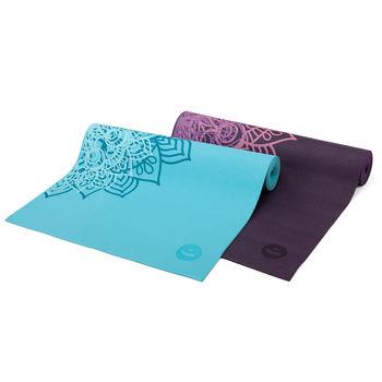 Mat pentru yoga Leela Two Tone BLUE CURACOA -4.5mm